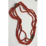 Red Blue 4 strand Beads