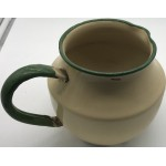 Enamelled Green Cream Jug